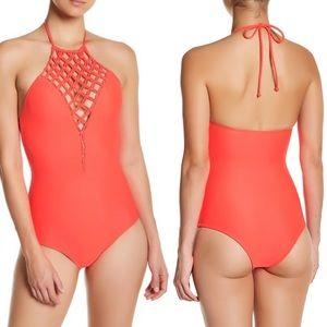 NWT Mikoh Swimwear Avalon Halter One-Piece